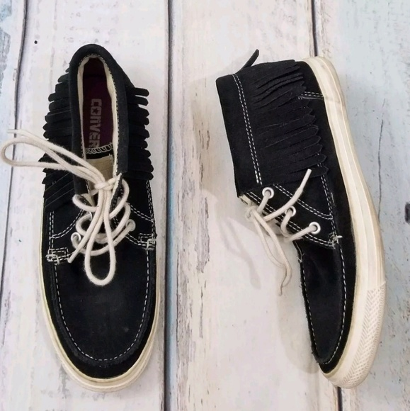 3862d7b348a1 Converse Shoes - Converse All Star Black Fringe Shoes Moccasins